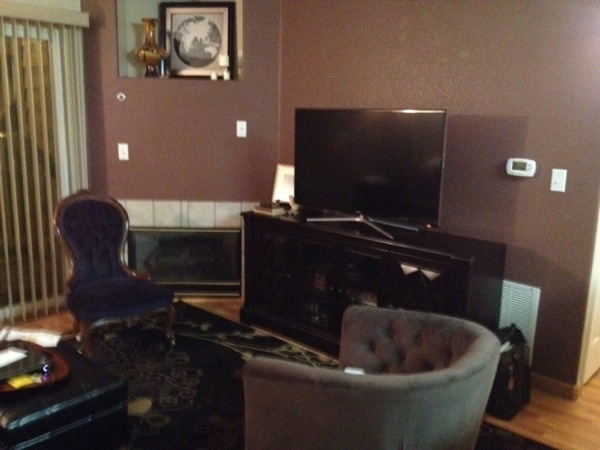 home staging consultation report before living room