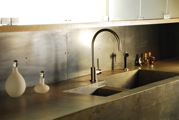 kitchen sink trends integrated concrete