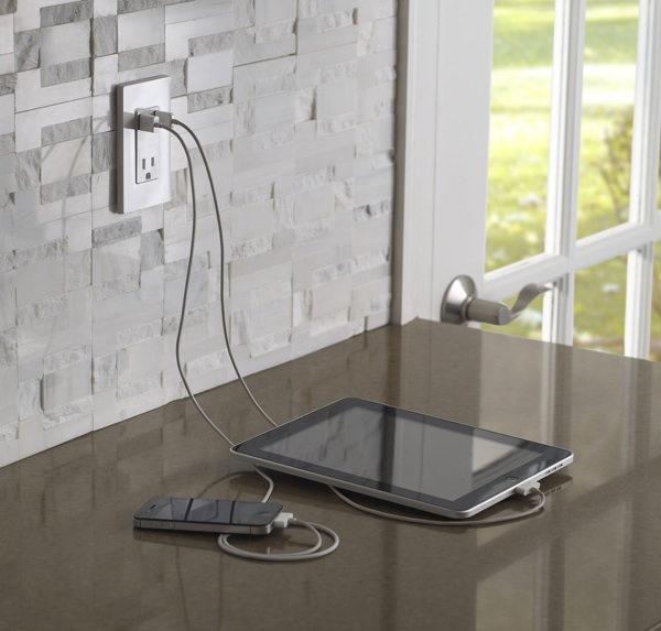 quick kitchen renovations usb charger counter